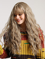 Χαμηλού Κόστους -Συνθετικές Περούκες Φυσικό Κυματιστό / Βαθύ Κύμα Στυλ Μικρή έκρηξη Χωρίς κάλυμμα Περούκα Ξανθό Ανοικτό Καφέ Γκρι Κίτρινο Συνθετικά μαλλιά 26 inch Γυναικεία Καταρράκτης / Χωρίς Οσμή / Μοδάτο Σχέδιο