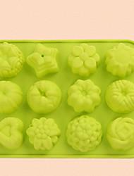 cheap -2pcs Silicone Creative Kitchen Gadget Kitchen Cake Molds Bakeware tools