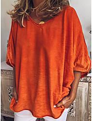 baratos -Mulheres Camiseta Sólido Vermelho XL