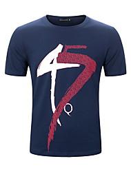 お買い得  -男性用 Tシャツ カラーブロック ホワイト XL