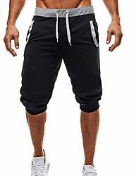 baratos -Homens Básico Shorts Calças - Sólido Preto