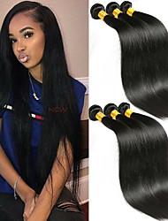 Недорогие -6 Связок Индийские волосы Прямой человеческие волосы Remy 100% Remy Hair Weave Bundles Головные уборы Человека ткет Волосы Пучок волос 8-28 дюймовый Естественный цвет Ткет человеческих волос