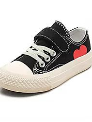 billige -Drenge / Pige Sko Kanvas / PU Forår Komfort Sneakers for Børn / Teenager Sort / Beige / Farveblok