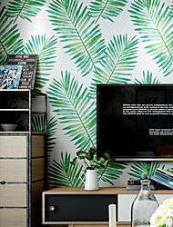 Χαμηλού Κόστους -ταπετσαρία Nonwoven Κάλυψης τοίχων - κόλλα που απαιτείται Δέντρα / Φύλλα