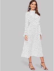 preiswerte -A-Linie Schmuck Tee-Länge Jersey Kleid mit Schärpe / Band durch LAN TING Express