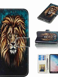 billiga -fodral Till Samsung Galaxy S9 Plus / S8 Plus Plånbok / Korthållare / Lucka Fodral Djur Hårt PU läder för S9 / S9 Plus / S8 Plus