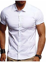 お買い得  -男性用 シャツ ソリッド ブラック XL