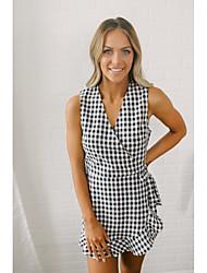 billige -kvinner over kneet kappe kjolen v nakke svart s m l xl