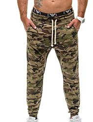 abordables -Hombre Básico Chinos Pantalones - Estampado Azul claro