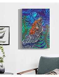 billige -Abstrakt Veggdekor Ikke Vevet / poly uretan Dyr Veggkunst, Diamantmaleri Dekorasjon