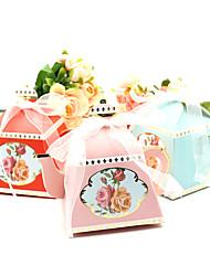 Недорогие -Необычные Розовая бумага Фавор держатель с Ленты Товары для дома / Упаковка и коробки для кексов / Подарочные коробки - 50 ед.