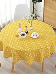halpa -Nykyaikainen Puuvilla Pyöreä Table Cloths Tulostus Pöytäkoristeet