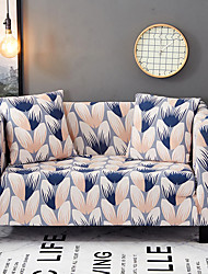 cheap -Sofa Cover High Stretch Leaves Printed Soft Elastic Polyester Slipcovers