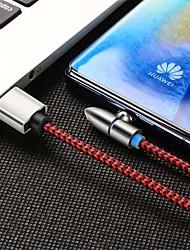 Недорогие -Mini USB Кабель Магнитный / От 1 до 3 Нейлон Адаптер USB-кабеля Назначение Samsung / Huawei / iPhone