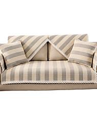 Недорогие -наволочки для дивана льняная хлопчатобумажная / с полоской / рисунок линии / вышивка кружевом / окрашенная пряжа
