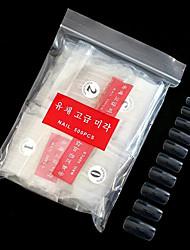 levne -500ks PVC Umělé tipy na nehty Pro Nehet na ruce Nejlepší kvalita Série zpráv nail art manikúra pedikúra Základní Denní / Festival