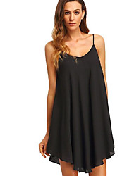 preiswerte -Damen Tunika Kleid - Rückenfrei, Solide Übers Knie