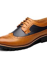 abordables -Homme Chaussures Formal Microfibre / Polyuréthane Printemps été Oxfords Noir / Jaune / Marron / Soirée & Evénement