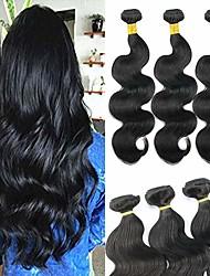 tanie -6 pakietów Włosy brazylijskie Body wave Włosy virgin Fale w naturalnym kolorze Pakiet włosów Pakiet One Solution 8-28 in Kolor naturalny Ludzkie włosy wyplata Bezzapachowy Najwyższa jakość Nowości