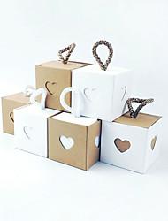 Недорогие -Кубик Крафт-бумага Фавор держатель с Пояс / лента Товары для дома / Обустройство дома / Коробочки - 50 ед.