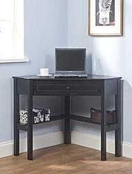 Недорогие -угловой компьютерный стол из черного дерева
