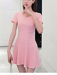 halpa -naisten yläpuolella polvi linja mekko v kaulan punastava vaaleanpunainen musta s m l xl