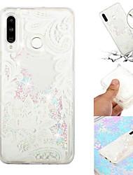 baratos -Capinha Para Samsung Galaxy Galaxy M20(2019) / Galaxy M30(2019) Liquido Flutuante / Transparente / Estampada Capa traseira Flor Macia TPU para Galaxy M10 (2019) / Galaxy M20(2019) / Galaxy M30(2019)