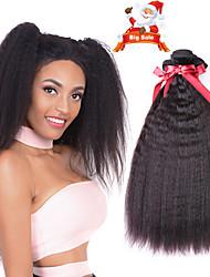Недорогие -6 Связок Индийские волосы Естественные прямые 100% Remy Hair Weave Bundles Человека ткет Волосы Пучок волос One Pack Solution 8-28 дюймовый Естественный цвет Ткет человеческих волос