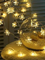 Недорогие -1 компл. Светодиодная строка свет 20 свет снежинка новогодняя елка подвеска украшения свет ночник фонарь USB