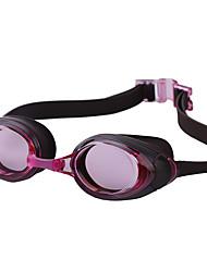 Недорогие -плавательные очки С защитой от ветра плавательные очки Противо-туманное покрытие На открытом воздухе Плавание силиконовый Резина Поликарбонат серый черный синий