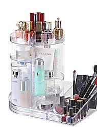 levne -Úložný prostor Organizace Kosmetický make-up organizátor Plastický Kulaté / Čtvercový Vícevrstvé / Prachuodolné / Zábavné