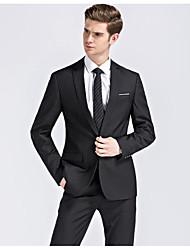 31c68631804a billiga Kostymer till skolavslutningen-Svart / Mörk marin Enfärgad Smal  passform Polyester Kostym - Trubbig