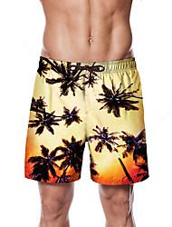 halpa -Miesten Urheilullinen / Perus Chinos housut / Shortsit Housut - Värikäs / Trooppinen Keltainen