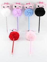 levne -pu vlasy míč růžový prase modrá tužka vést kuličkové řemeslo dárky pro děti učení kancelář papírnictví