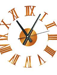 Недорогие -3d кварцевые часы домашнего декора большой роман тихий акриловый стикер современные часы гостиная diy настенные часы стильные настенные часы