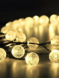 preiswerte -1 Satz LED Laterne Solar Lichterkette 15m 100 Licht Blase Ball im Freien wasserdicht Licht Gartendekoration Licht
