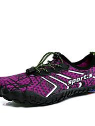 Χαμηλού Κόστους -Γυναικεία Ελαστικό ύφασμα Καλοκαίρι Αθλητικό / Καθημερινό Αθλητικά Παπούτσια Παπούτσια Upstream Επίπεδο Τακούνι Στρογγυλή Μύτη Γκρίζο / Βυσσινί / Μπλε