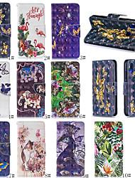 Недорогие -Чехол для мобильного телефона Samsung с гнездом для карты в стиле 3d с рисунком для samsung s10 / s10plus / s10e / s9 / s9plus / s8 / s8plus универсальный чехол для мобильного телефона
