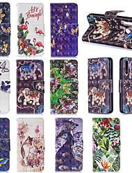 رخيصةأون -غطاء من أجل Samsung Galaxy Galaxy A10 (2019) / Samsung Galaxy A70 (2019) محفظة / حامل البطاقات غطاء كامل للجسم حيوان / زهور ناعم TPU إلى A6 (2018) / Galaxy A7(2018) / A8 2018