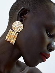 tanie -Damskie Geometryczny Kolczyki drop Kolczyki zwisają Kolczyki Prosty Klasyczny Vintage Europejskie Biżuteria Złoty / Srebrny Na Impreza Codzienny Karnawał Ulica Praca 1 para
