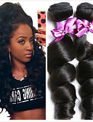 tanie -6 pakietów Włosy brazylijskie Luźne fale Włosy naturalne remy Fale w naturalnym kolorze Pakiet włosów Pakiet One Solution 8-28 in Kolor naturalny Ludzkie włosy wyplata Bezzapachowy Klasyczny