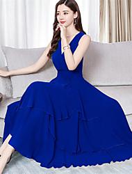 preiswerte -Damen Boho Elegant Swing Kleid - Druck Midi