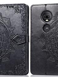 tanie -Kılıf Na Motorola Moto G7 Etui na karty / Flip Pełne etui Solidne kolory Twardość Skóra PU na Moto G7
