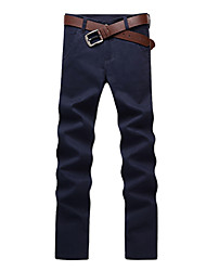 tanie -Męskie Podstawowy Typu Chino Spodnie - Solidne kolory Wino