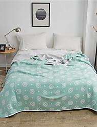 billige -Komfortabel - 1stk dyne / 1stk Sengetæppe Kryss-sesonger / Vår / Sommer Bomull Blomstret / Fargeblokk / Enkel