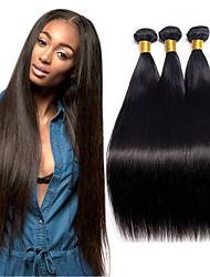 ราคาถูก -3 Bundles / กลุ่ม ผมมาเลเซีย Straight ผมเวอร์จิน 100% Remy Hair Weave Bundles มัดผม ผมต่อแท้ ผมผ้าที่มีการปิด 8-28 inch ธรรมชาติ สานเส้นผมมนุษย์ Safety ผู้หญิง คุณภาพที่ดีที่สุด ส่วนขยายของผมมนุษย์