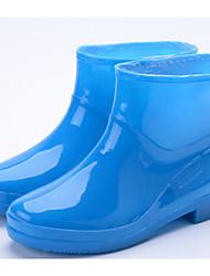 halpa -Tyttöjen Kengät Kumi Kevät Comfort / Kumisaappaat Bootsit varten Teini-ikäinen Purppura / Vihreä / Sininen / Säärisaappaat