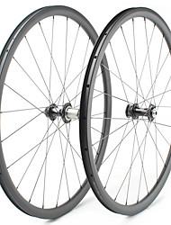 Недорогие -FARSPORTS 700CC Колесные пары Велоспорт 25 mm Шоссейный велосипед Углеродное волокно Подходит для клинчерной покрышки / бескамерной шины 24/24 Спицы 38 mm