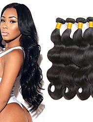 저렴한 -4 묶음 브라질리언 헤어 바디 웨이브 100 % 레미 헤어 위브 번들 인간의 머리 직조 익스텐션 번들 헤어 8-28inch 자연 색상 인간의 머리 되죠 안전 부드러움 패션 인간의 머리카락 확장 여성용