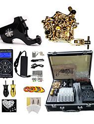 Недорогие -BaseKey Профессиональный комплект для татуировки Татуировочная машина - 2 pcs татуировки машины, Для профессионалов / новый Алюминиевый сплав 18 W 1 х Роторная тату-машинка для контура и заливки / 1